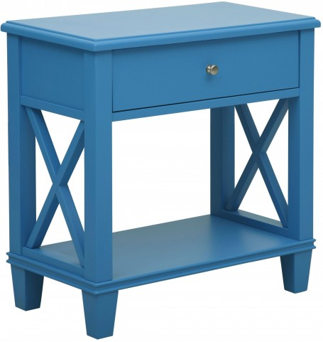 Sky Blue Shelf Side Table