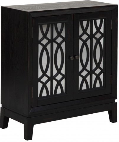 2 Door Black Accent Chest