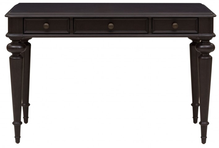 Rubbed Black 3 Drawer Writing Desk