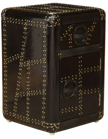 Aviation Black Door Chest