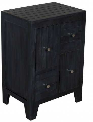 Distressed Rustic Black Drawer Chest