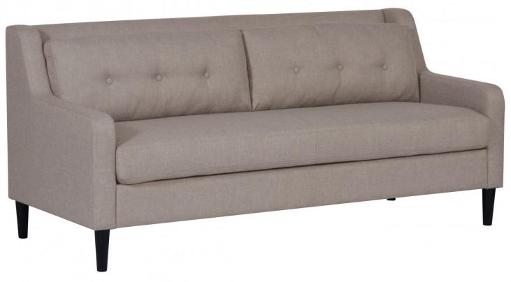 Glacier Hued Fabric Sofa
