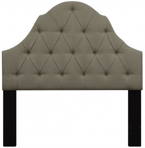 Taupe Full/Queen Button Tufted Upholstered Headboard