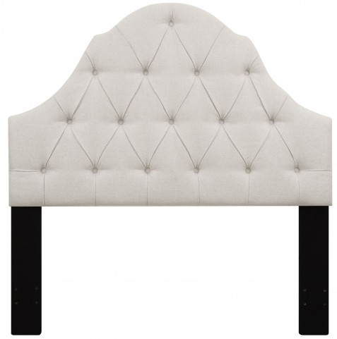 Linen Full/Queen Button Tufted Upholstered Headboard