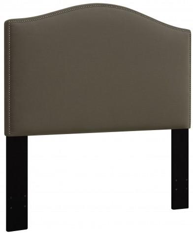 Taupe King/Cal. King Nailhead Upholstered Headboard