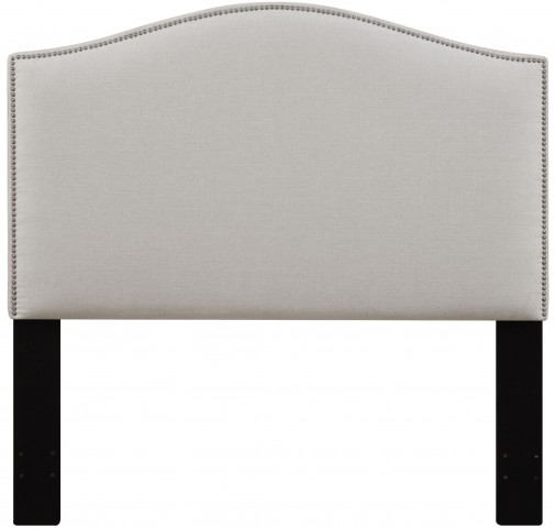 Linen Full/Queen Nailhead Upholstered Headboard