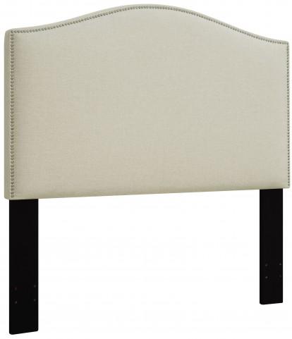 Beige King/Cal. King Nailhead Upholstered Headboard