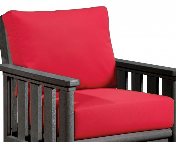 Stratford Jockey Red Deep Seating Cushion Set of 2