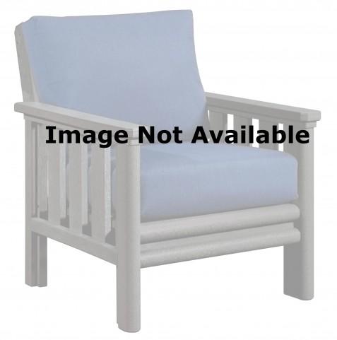 Stratford White Chair With Berenson Tuxedo Sunbrella Cushions