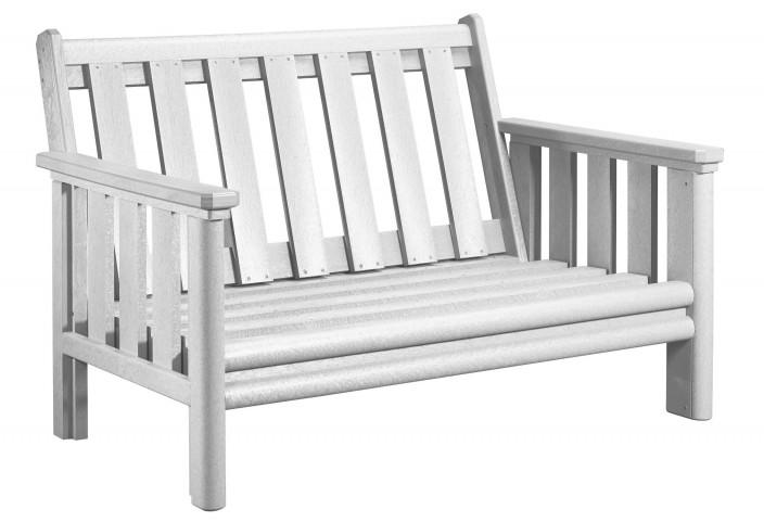Stratford White Deep Seating Loveseat Frame