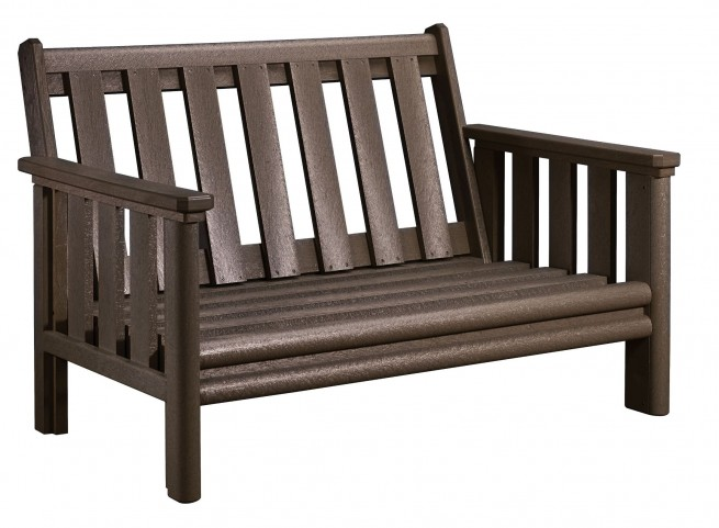 Stratford Chocolate Deep Seating Loveseat Frame