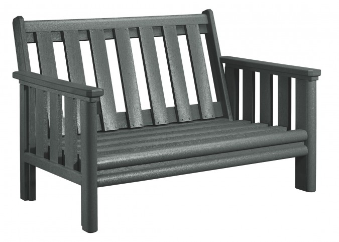 Stratford Slate Gray Deep Seating Loveseat Frame