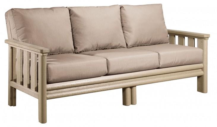 Stratford Beige Sofa With Beige Sunbrella Cushions