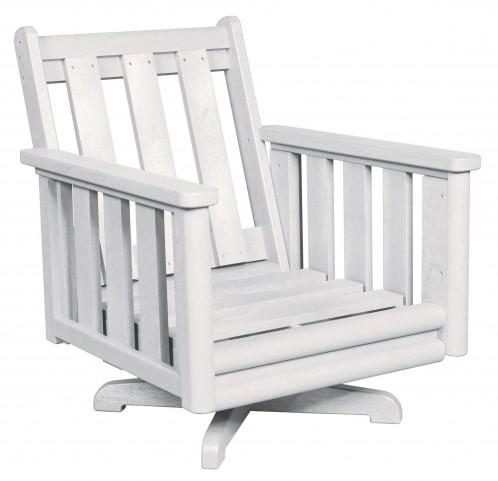 Stratford White Deep Swivel Chair Frame