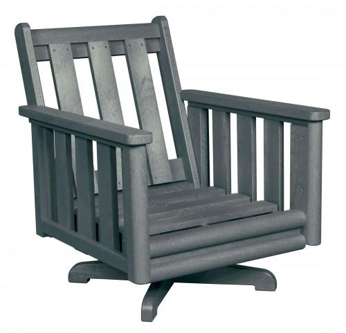 Stratford Slate Gray Deep Swivel Chair Frame