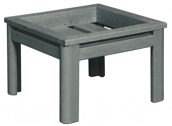 Stratford Slate Gray Deep Seating Small Ottoman Frame