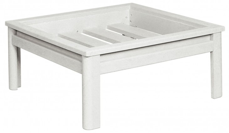 Stratford White Deep Swivel Large Ottoman Frame