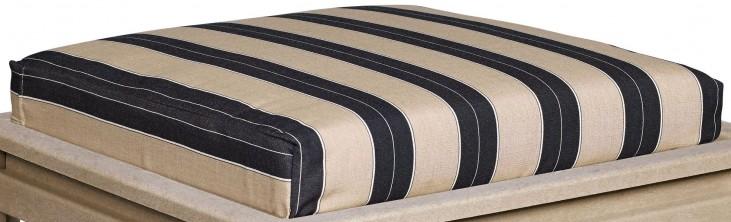 Stratford Berenson Tuxedo Large Ottoman Cushion