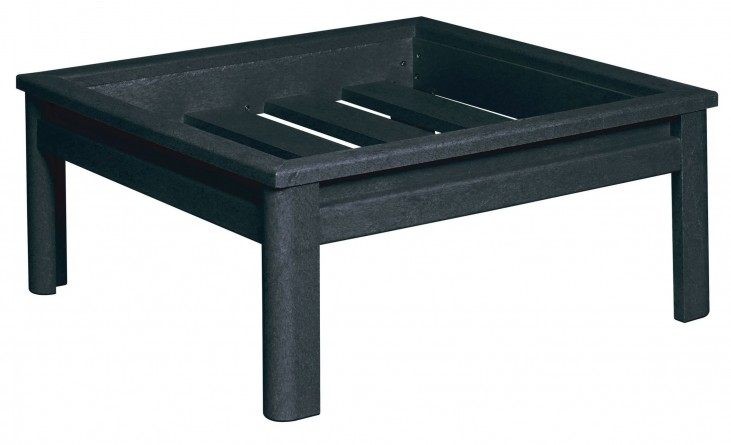Stratford Black Deep Seating Small Ottoman Frame