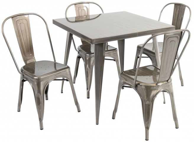 Austin Square Silver Dining Room Set