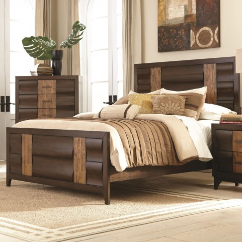 Dublin Dark forest Two Tone Queen Panel Bed