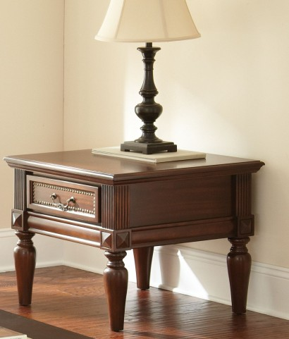 Davina Warm Cherry End Table