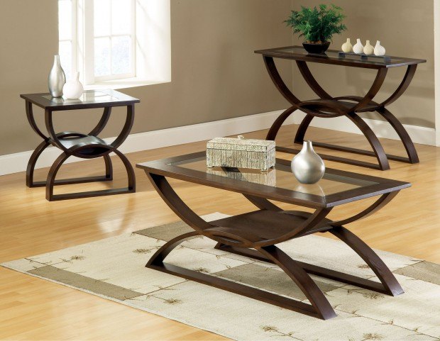 Dylan Merlot Cherry Occasional Table Set