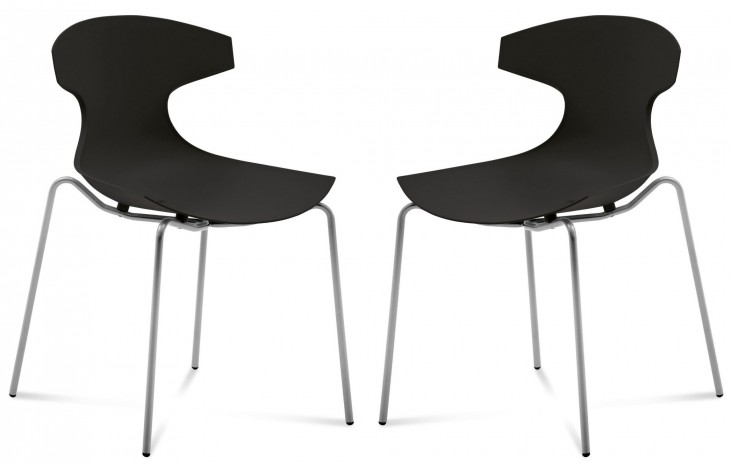 Echo Black Stacking Chair Set of 2