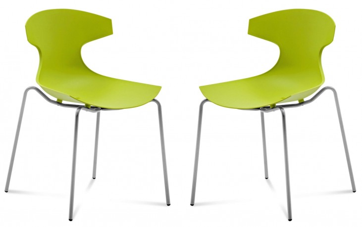 Echo Green Stacking Chair Set of 2
