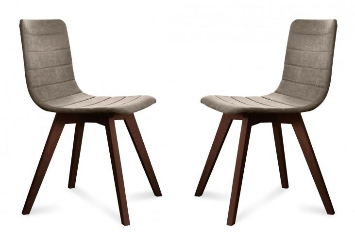 Flexa Flirt Sand Chocolate Frame Ashwood Chair Set of 2