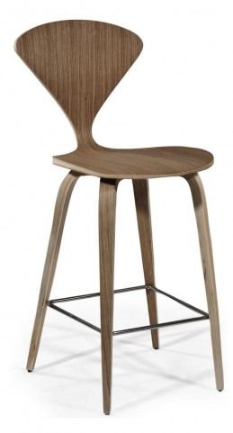 Modern Classics Eddie Walnut Counter Height Stool