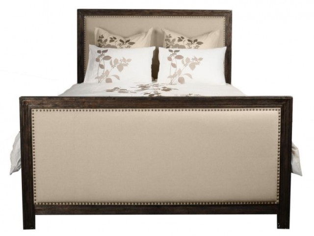 Eden Rustic Java Upholstered Queen Panel Bed