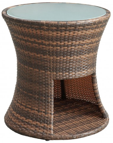 Strum Brown Patio Outdoor Patio Side Table