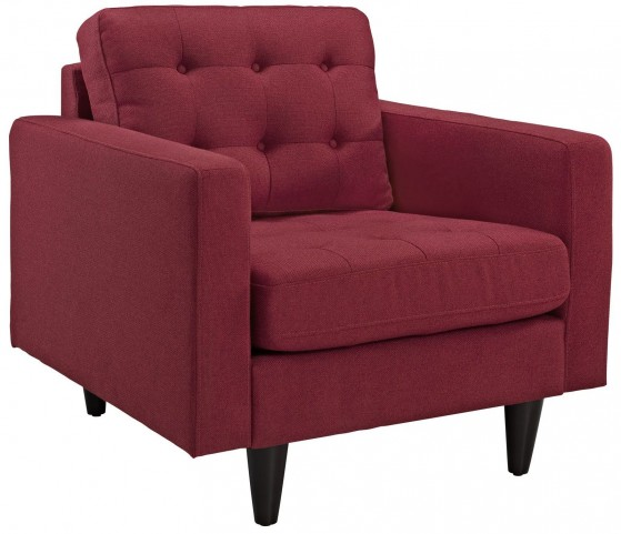 Empress Red Upholstered Armchair