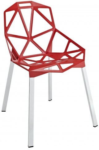 Connections Red Dining Side Chair