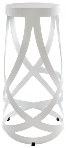 Ribbon White Bar Stool