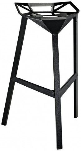 Launch Black Stacking Bar Stool