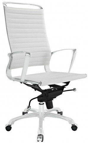 Tempo White Highback Office Chair