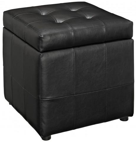 Volt Storage Black Ottoman