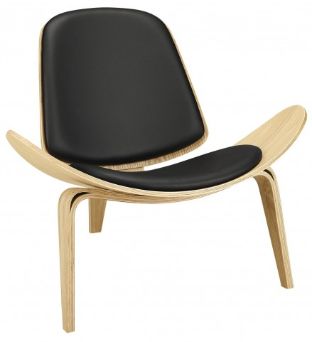 Arch Oak Black Lounge Chair