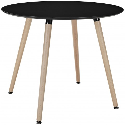 Track Black Circular Dining Table