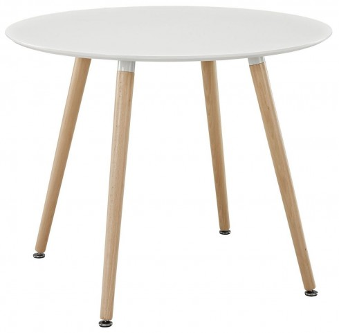 Track White Circular Dining Table