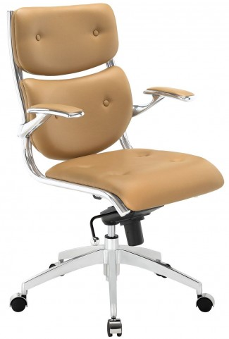 Push Tan Midback Office Chair