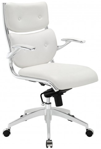 Push White Midback Office Chair