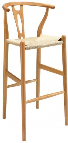 Amish Natural Wood Bar Stool