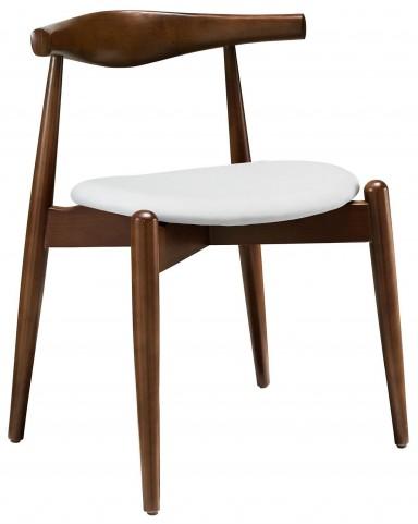 Stalwart Dark Walnut abd White Dining Side Chair