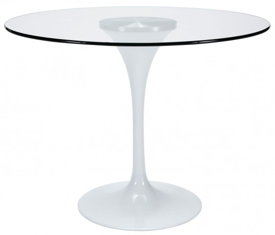 "Lippa Clear 40"" Glass Top Dining Table"