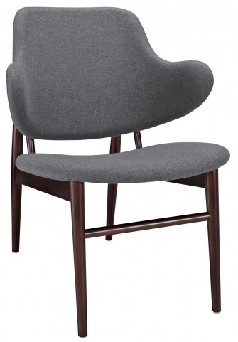 Cherish Dark Gray Wood Lounge Chair