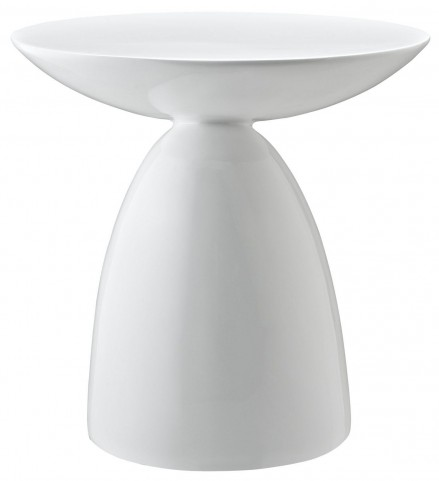 Flow White Side Table