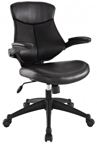 Stealth Black Mid Back Office Chair